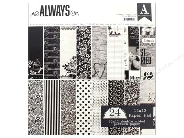 "Authentique Collection Always Paper Pad 12""x 12"""