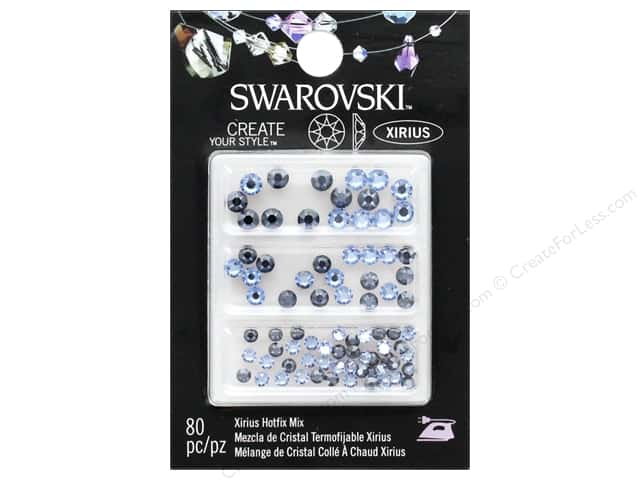 Cousin Swarovski Hotfix Mix Light Sapphire/Sapphire Satin 80pc
