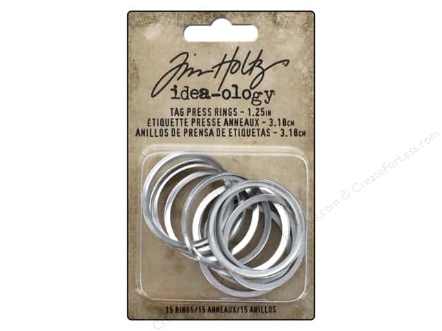 Tim Holtz Idea-ology Tag Press Rings 1.25""