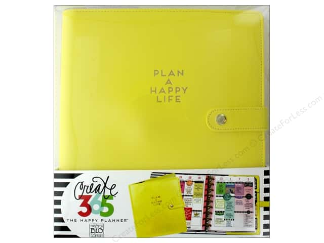 Me & My Big Ideas Create 365 Happy Planner Deluxe Cover - Classic Sunshine Yellow