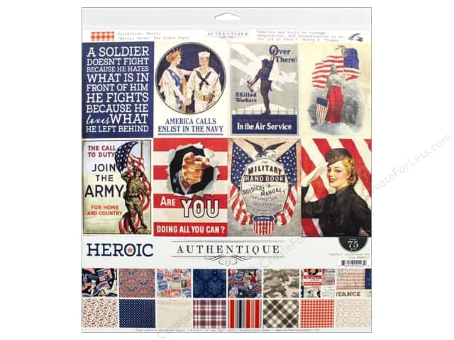 "Authentique Collection Heroic Collection Kit 12""x 12"""
