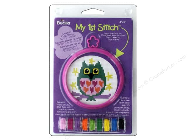 Bucilla Counted Cross Stitch Kit 3 in. Mini Owl A