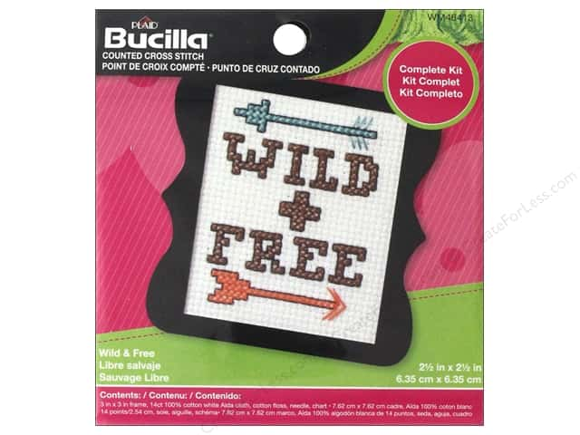 Bucilla Cross Stitch Kit Beginner Mini Wild & Free