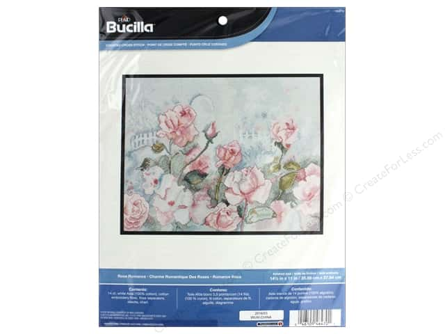 Bucilla Counted Cross Stitch Kit Rose Romance