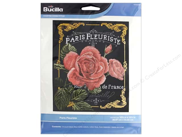 Bucilla Counted Cross Stitch Kit Paris Fleuriste