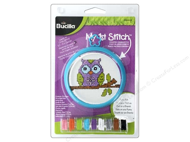 Bucilla Counted Cross Stitch Kit 3 in. Mini Owl Branch