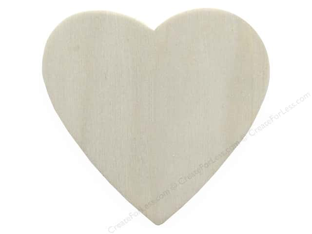 "Darice Wood Shape Unfinished 2.5"" Heart (12 pieces)"