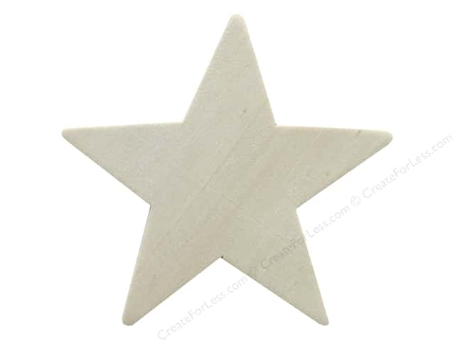 "Darice Wood Shape Unfinished 3.5"" Star (12 pieces)"