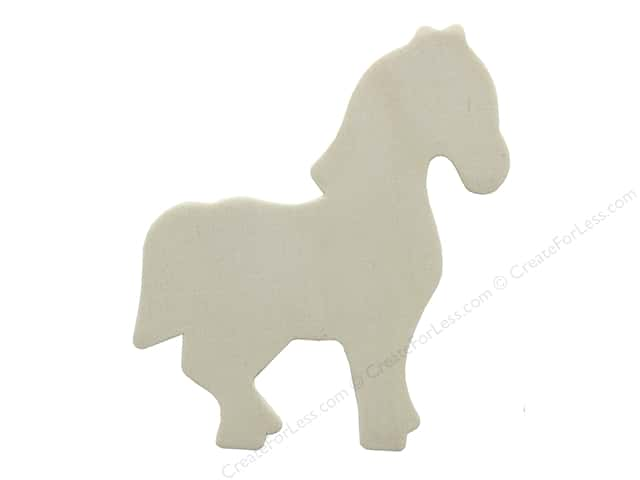 "Darice Wood Shape Unfinished 4"" Horse (12 pieces)"