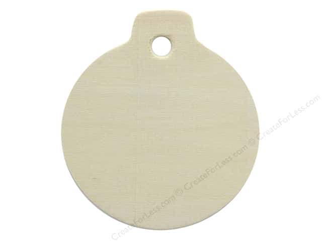 """Darice Wood Shape Unfinished 3.25"""" Ornament (12 pieces)"""
