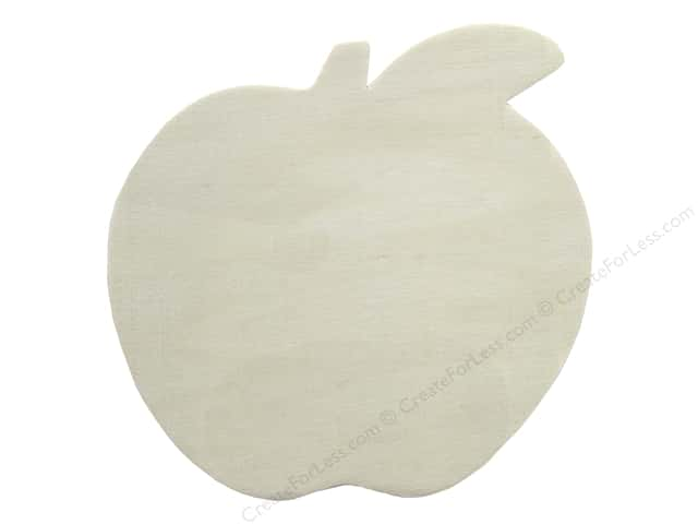 "Darice Wood Shape Unfinished 5.25"" Apple (12 pieces)"
