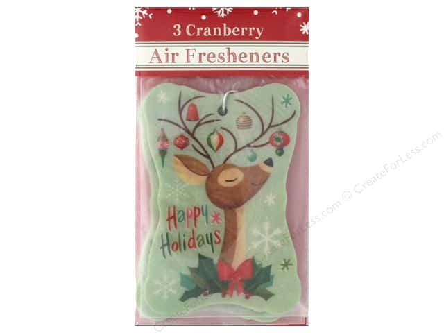 Molly & Rex Air Freshener Holiday Ornate Deer 3pc