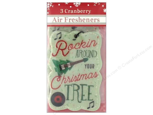 Molly & Rex Air Freshener Holiday Tree/Guitar 3pc