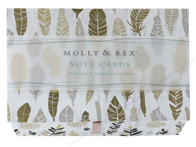 Molly & Rex Card Note Box Duo Botanical Luxe