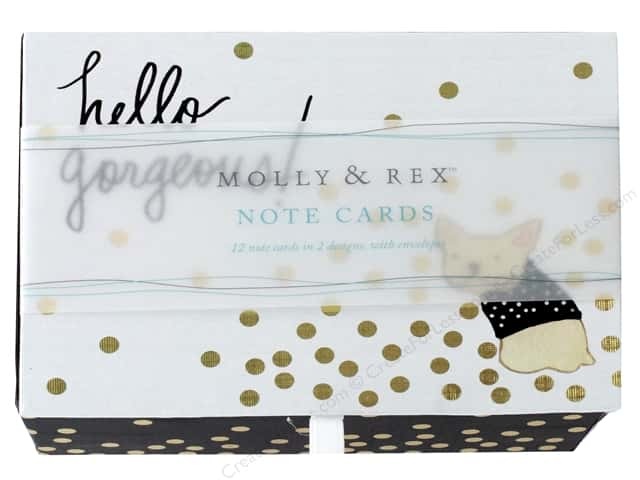 Molly & Rex Card Note Box Duo Hello Frenchie