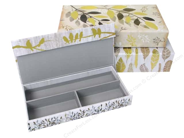 Molly & Rex Organizer Pencil Box Botanical Set Of 3