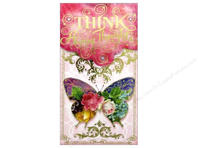 Punch Studio Note Pad Pocket Large Happy Thoughts