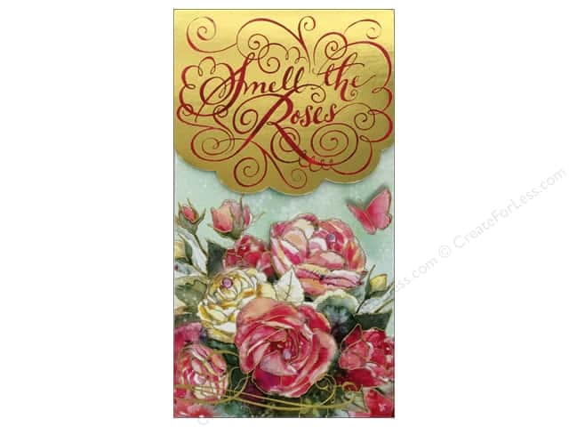Punch Studio Note Pad Pocket Large Smell The Roses