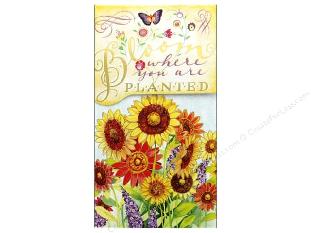 Punch Studio Note Pad Pocket Large Bloom Where Planted