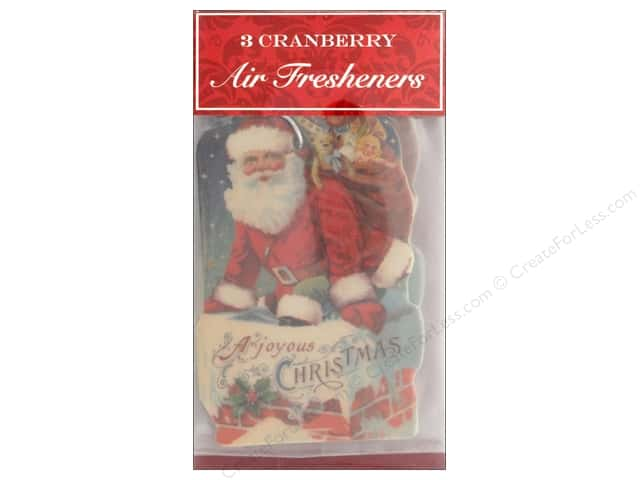 Punch Studio Air Freshener Holiday Santa 3pc