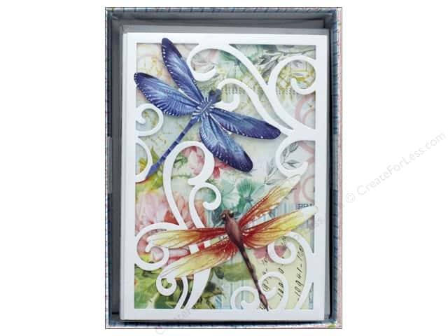 Punch Studio Gift Card Boxed Die Cut Dragonfly