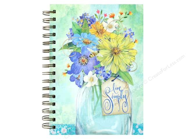 Punch Studio Journal Spiral Simply Bouquet