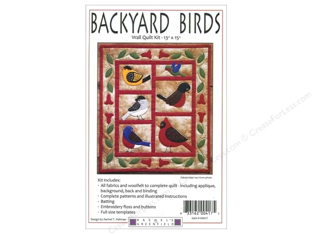Rachel's Of Greenfield Kit Quilt Backyard Birds