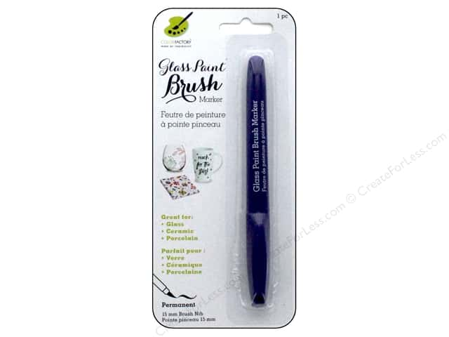 Multicraft Glass Paint Brush Marker Permanent Purple