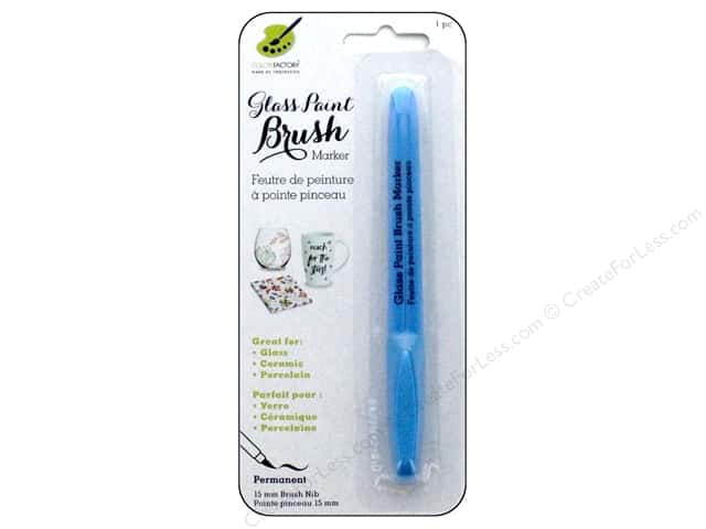 Multicraft Glass Paint Brush Marker Permanent Light Blue