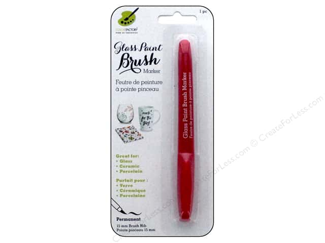 Multicraft Glass Paint Brush Marker Permanent Magenta