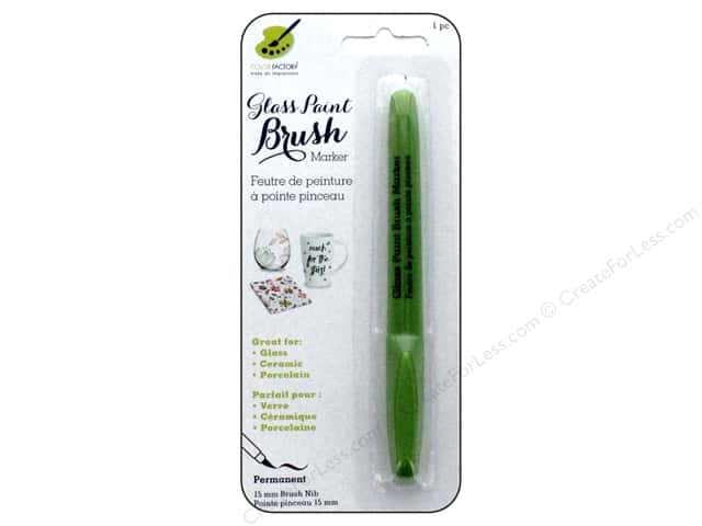 Multicraft Glass Paint Brush Marker Permanent Light Green