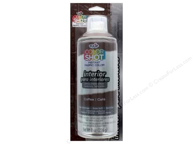 Tulip Color Shot Indoor Upholstery Spray 8oz Coffee