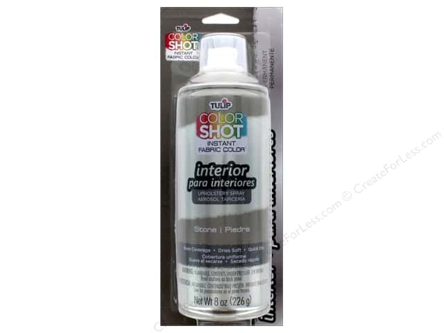 Tulip Color Shot Indoor Upholstery Spray 8oz Stone