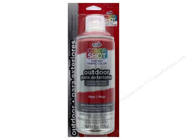 Tulip Color Shot Outdoor Upholstery Spray 8oz Red