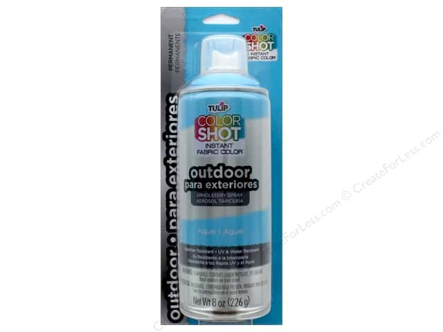 Tulip Color Shot Outdoor Upholstery Spray 8oz Aqua