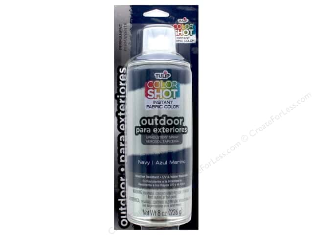 Tulip Color Shot Outdoor Upholstery Spray 8oz Navy