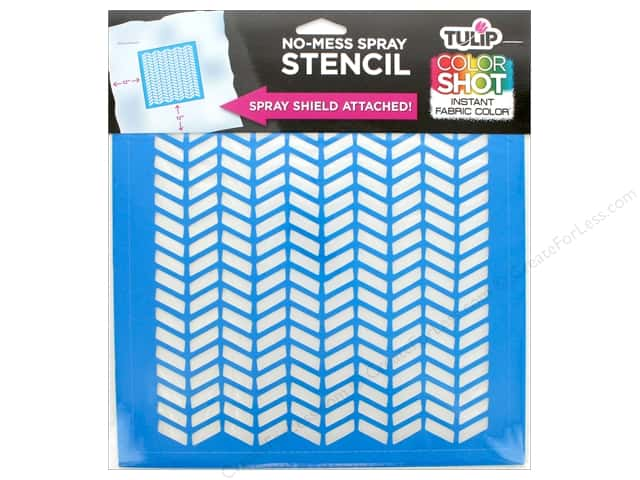 "Tulip Fabric Stencil Color Shot 10""x 10"" Herringbone"