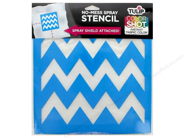 "Tulip Fabric Stencil Color Shot 10""x 10"" Chevron"