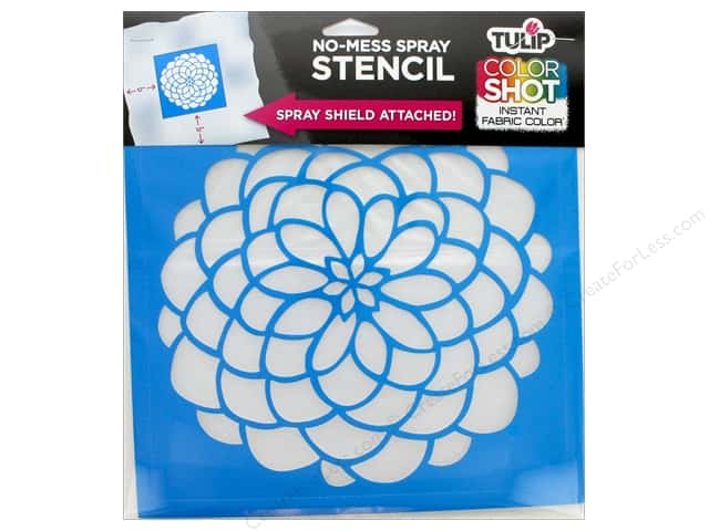 "Tulip Fabric Stencil Color Shot 10""x 10"" Dahlia"