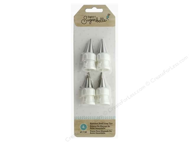 American Crafts Collection Sweet Sugarbelle Stainless Steel Icing Tips 4pc