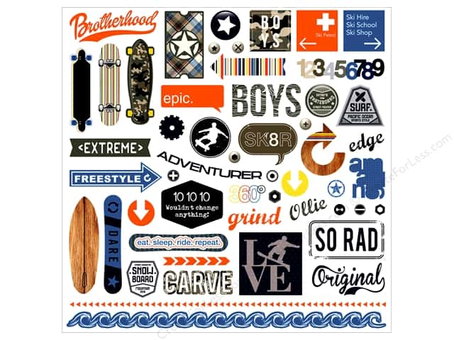 "Photo Play Collection Freestyle Sticker Element 12""x 12"" (12 pieces)"