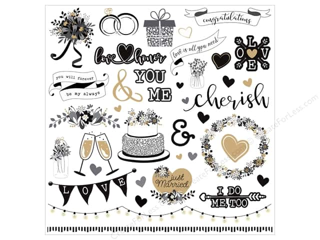 "Photo Play Collection We Do Sticker Element 12""x 12"" (12 pieces)"