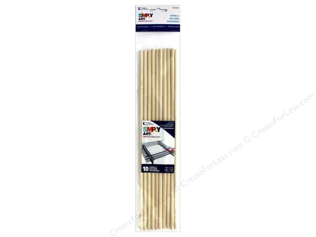 Loew Cornell Simpy Art Wood Dowel 12 x 1/4 in. 10 pc.