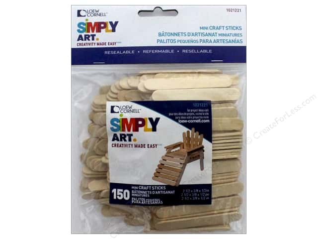 Loew Cornell Simpy Art Mini Craft Stick 150 pc.