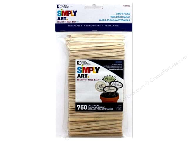 Loew Cornell Simpy Art Craft Picks 3 1/2 in. 750 pc.