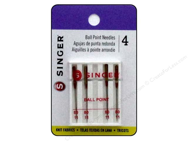 Singer Machine Needle Ball Point Size 80/11 4pc