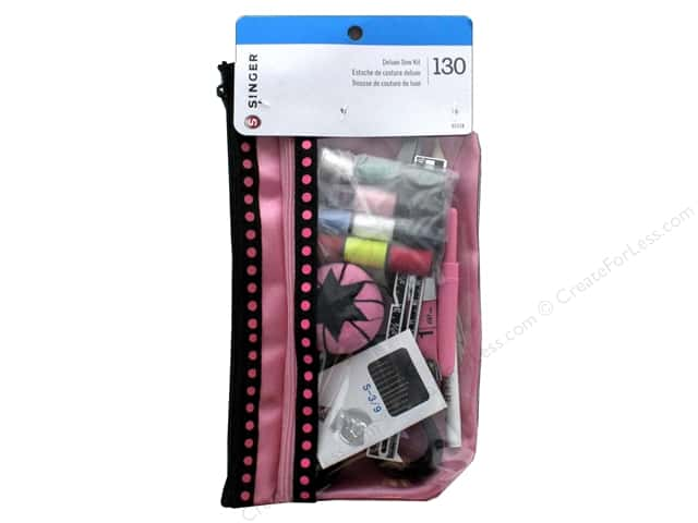Singer Sewing Kit Beginners with Designer Pouch 130pc