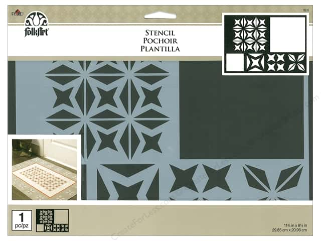 Plaid FolkArt Painting Stencils - Starburst Tile