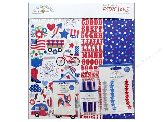 Doodlebug Collection Yankee Doodle Essentials Kit