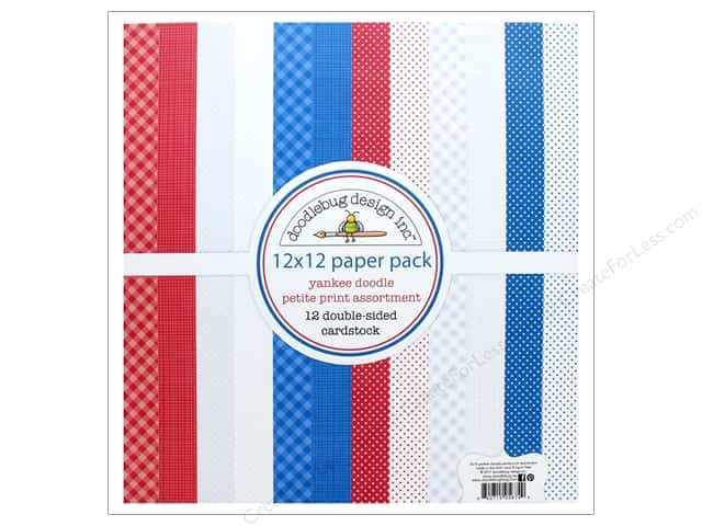 Doodlebug Collection Yankee Doodle Paper Pack Petite Print